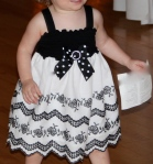 flower girl black and white dress