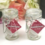 clear glass jars with seals